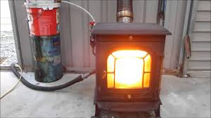 convert your stove to burn waste oil you