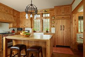 Lake House Kitchen Tomahawk Lake House David Heide Design Studio