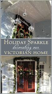 Disco Ball Decorations Cheap Inspiration Our Victorian Front Porch Decorated For Christmas A DIY Bow