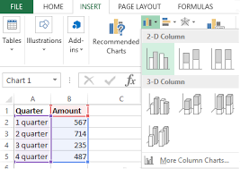 How To Build A Chart On A Table In Excel Step By Step