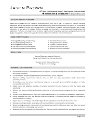 100 Insurance Sales Representative Resume Basic Insurance
