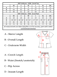 Scrub Top Size Chart Details About Dsf Medical Uniform Scrub Set Top And Cargo Pants 1836 Unisex Classic Style