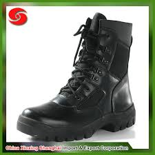 china genuine leather nylon lace newest style black patent leather military boots china military boots combat boots