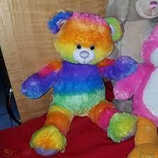 Build a Bear Workshop Rainbow Glitter Teddy Bear Build-a-Bear 17 in Stuffed  Animals & Plush Toys Toys & Games kiririgardenhotel.com
