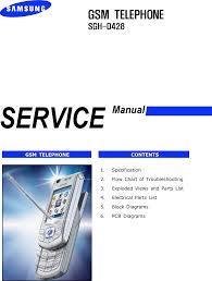 Samsung SGH D428 Service Manual. Www.s ...