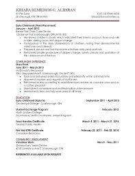 Child Care Cover Letter Sample Resume For Child Caregiver Daycare