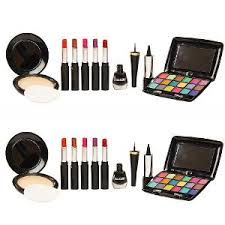nutriglow complete color care make up combo set of 18