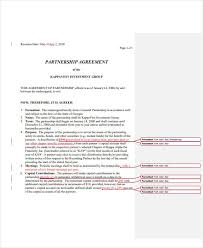 Investment Agreement Templates 10 Partnership Investment Agreement Templates Pdf Free