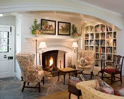 Impressive Cozy Living Room With Fireplace Idea In Philadelphia A Library Modern Design
