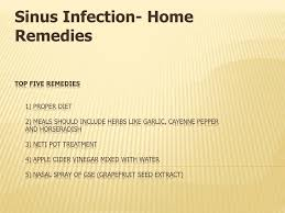 ppt sinus infection home remes