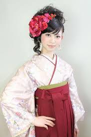 アップスタイル セミロング 袴 謝恩会guiches堅田店 Risa Ishida
