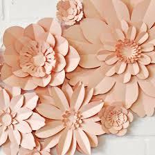Flower Made In Paper Set Of 11 Handmade Paper Flowers
