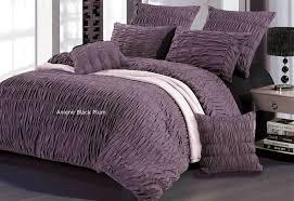 Luxton Aniene Black Plum quilt cover/ duvet cover/ doona cover set ... & King / Queen Aniene Black Plum purple Quilt Cover/Duvet Cover Set with  optional European pillowcase Adamdwight.com
