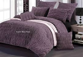 king queen aniene black plum purple quilt cover duvet cover set with optional european pillowcase