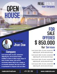business open house flyer template open house business flyer real estate template design