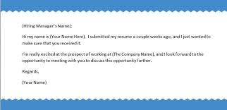 Sample Follow Up Email After Sending Resume jennywashere - follow up email  after