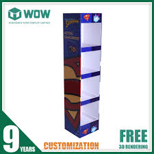 T Shirt Display Stand Portable Tshirt Floor Display Stand With Cardboard Material 58