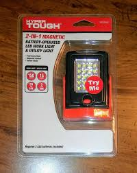 Hyper Tough 2 In 1 Magnetic Light Hyper Tough 2 In 1 Magnetic Battery Operated Led Work Utility Light Sealed