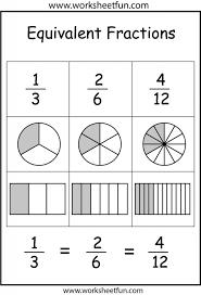 Kindergarten Equivalent Fractions Worksheet Fraction Math Workshe ...