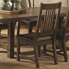 rustic leather dining chairs. Buy Padima Rustic Dining Side Chair With Faux Leather Oak Chairs