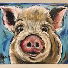 pig art canvas pig art print pig prints canvas pig print from original canvas pig painting colorful pig art cute pig decor