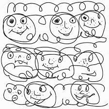 Disegni Di Facce Spaventate Facce Buffe Disegnate Con Una Matita