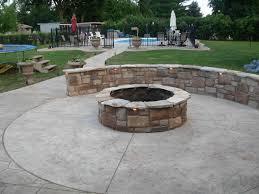 Unique Concrete Patio Designs With Fire Pit Also Designing Home Inspiration  with Concrete Patio Designs With