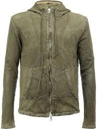 giorgio brato hooded leather jacket kaki men clothing giorgio brato knockoff bag