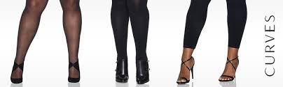 Hanes Womens Plus Size Curves Silky Sheer Legwear