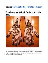 Mehndi Designs For Kids Simple Arabic Mehndi Designs For Kids By Only For Kids Issuu