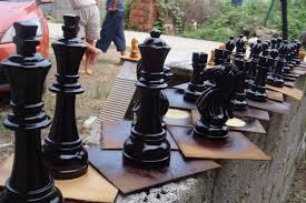 garden chess set. Outdoor Giant Garden Chess Toy Set/big Set /wooden /plastic
