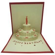 Amazoncom Papercraft Pop Up 3d 3 Layers Birthday Cake Birthday