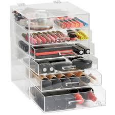 diamond handle crystal clear jewelry storage bo bin display custom acrylic makeup organizer cosmetic drawer