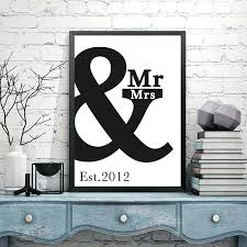 s  on custom metal wall art canada with mr and mrs wall art custom anniversary print wall art poster decor