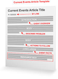 Current Events Article Template Article Writing Marketing