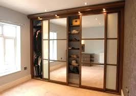 Interior Mirrored Sliding Closet Doors Lowes Astonishing Mirrored
