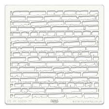 brick wall 7x7 stencil