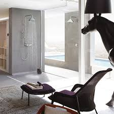 Bathroom trend floor level shower Hansgrohe INT
