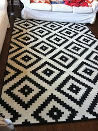home chic raleigh ikea rug black and white