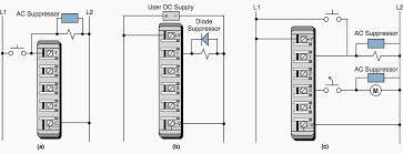 guidelines for plc installation wiring and connection precautions suppression of a a load in parallel a plc input module