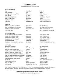 Resume On Google Docs Headshot Resume And Reel Dan Hodapp 84