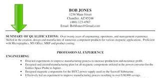 Career Summary Resume Examples Resume Tutorial Pro