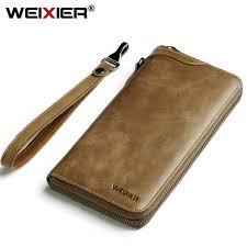 wexier vintage men long wallet men