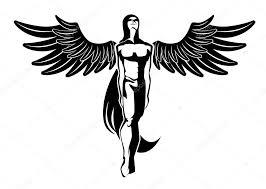 Angel Tetování Stock Vektor Niki2die4 3054145