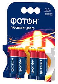 Батарейки <b>ФОТОН</b> АА / LR6 4 шт — купить в интернет-магазине ...