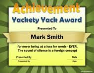 Funny Awards At Work Silly Certificates 102 Fun Awards