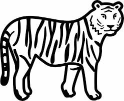 Small Picture Funny Page For Kids Education Color Tiger Coloring Pages By Number