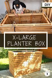 diy slatted planter box raised garden