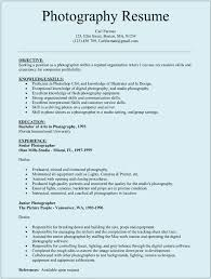 Resume For Photographer Resume Template Ideas