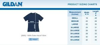 Gildan Tee Shirt Size Chart Gildan Mens Size Chart Cyprus Comic Con